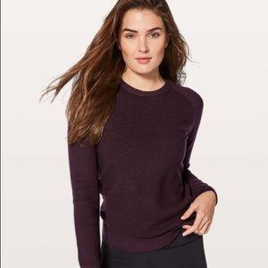Lululemon Simply Wool Sweater; Black Cherry; 2
